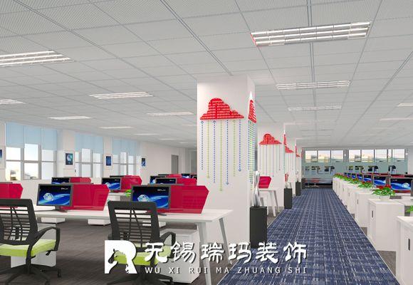 无锡网络公司办公室装修1